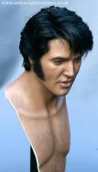 Elvis sculpture bust
