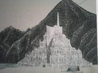 Minas Tirith WIP by Glorfindelle