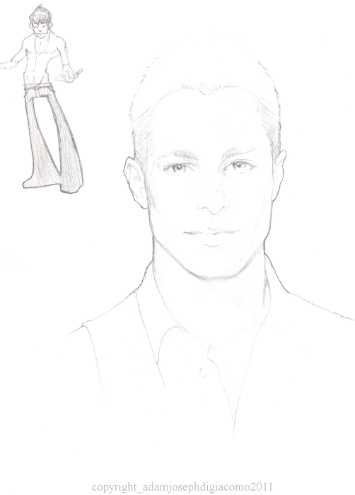 colton haynes sketch + little dude by GiuseppeDiGiacomo