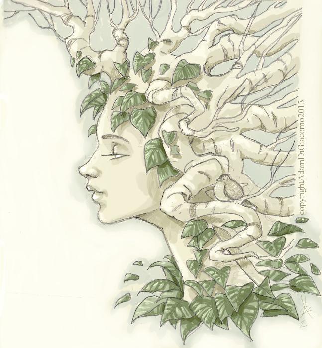 dryad sketch by GiuseppeDiGiacomo