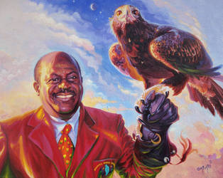 Mr Charles With Eagle by OMtNI