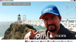 SCOUT X location - Point Bonita Lighthouse