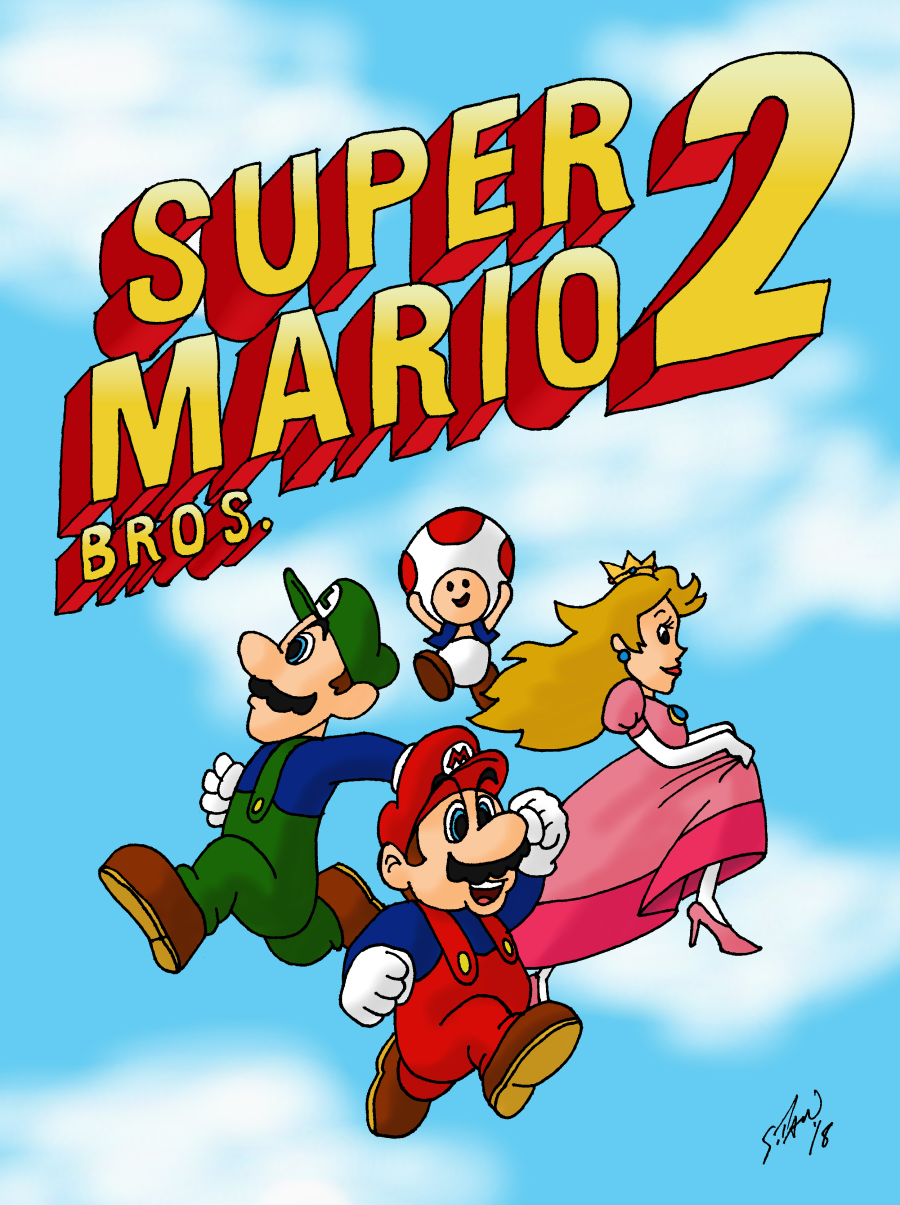 Super Mario Bros 2 30th Anniversary By Dubyascott On Deviantart