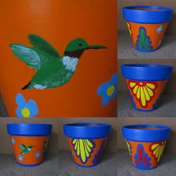 Painted Pot by DubyaScott