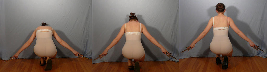 Sai Coming Up - Back Pose Reference by SenshiStock