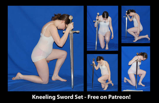 Free on Patreon - Kneeling Sword Set