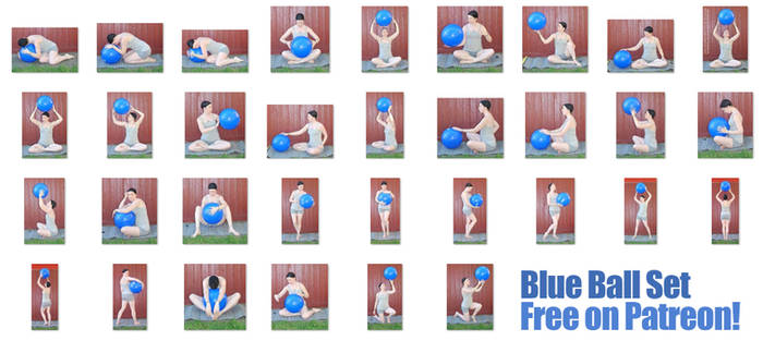 Blue Ball Set - FREE NOW! on Patreon