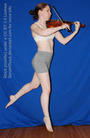 Viola Violin Pose Reference Action Floating Fly by SenshiStock