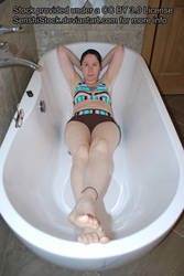 Deep Perspective Tub Bath Pose Figure Model Ref by SenshiStock