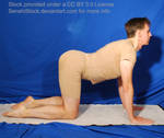 Cat Stretch Yoga Pose Reference Male Figure Model