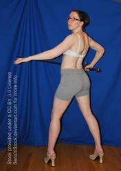 Back Pose Sword High Heels Magic Fantasy Pose