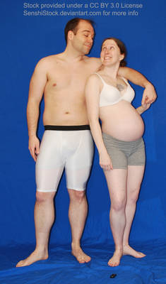 Pregnancy Couple Romantic Pose for Drawing