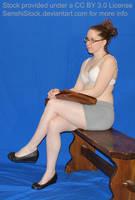 Waiting Pose Reference sitting Model by SenshiStock