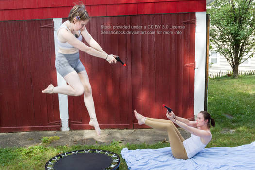Flying Shooting Gun Fight Battle Pose Reference