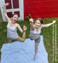 Perspective Foreshortening Jumping Pair Pose Ref by SenshiStock