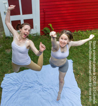 Perspective Foreshortening Jumping Pair Pose Ref