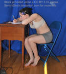 Writing At A Desk School Test Taking Pose Ref