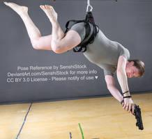 Falling Shooting Dramatic Gun Fly Pose Reference by SenshiStock