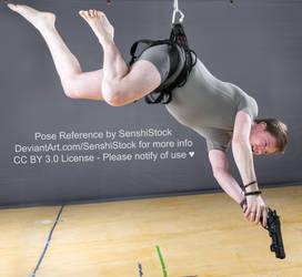 Falling Shooting Dramatic Gun Fly Pose Reference