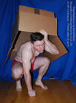 Solid Snake Pose Reference with A Big Box by SenshiStock