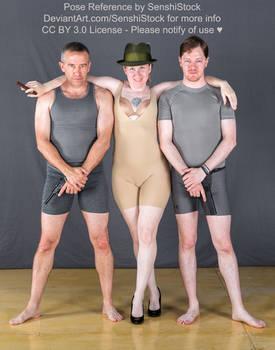 Kickstarter Trio Group Pose Reference Bodyguards