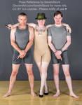 Kickstarter Trio Group Pose Reference Bodyguards by SenshiStock