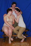Trio Group Girlfriends Polyamory Pose Reference by SenshiStock