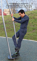 Playground Male Pose Hanging On Reference by AdorkaStock