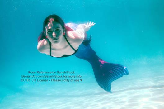 Pose Reference Mermaid Swimming Foreshortening