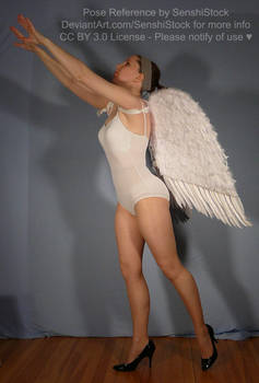 Angel Reaching Upwards on Tip Toes Pose Ref