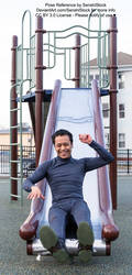 King Chaos Having Fun on a Slide Pose Ref by SenshiStock