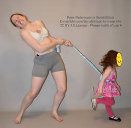 Reign In - Pulling Child Leash Pose Reference