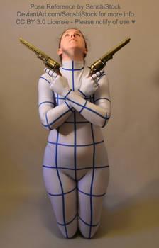 Dual Gun Kneeling Arms Crossed Pose Ref