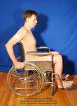 Wheelchair Profile Brian Sitting Pose Reference by SenshiStock