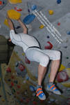 Hanging Rock Climbing Perspective Foreshortening by AdorkaStock