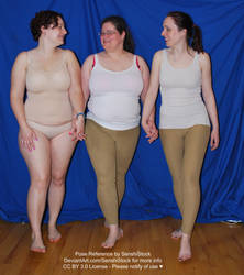 Trio Walking Together Holding Hands Polyamory