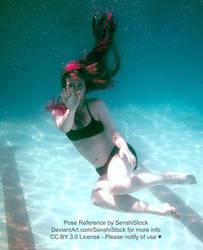 Sinned-angel-stock Underwater Floating Pose
