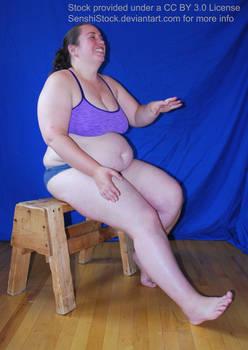 Rowena Candid Laughing Sitting Pose