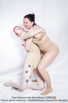 Two Models Pull Injured Hurt Saving Hugging