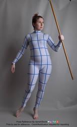 Staff Walking Pose Reference Figure Model