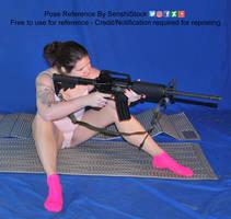 Rifle Pose Reference Sitting Aiming Waiting Pose