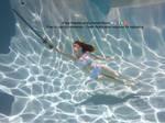 Underwater Sword Pose Flying Float Magical Pose