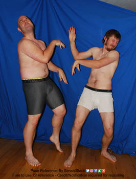 Two Guys Having a Slap Fight Pose Reference