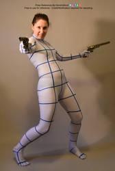 Dual Gun Gunslinger Dynamic Action Pose Reference by AdorkaStock