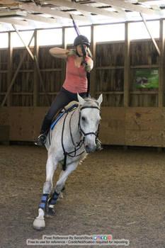 Horse and Rider Archery Running Fire Arrow Battle