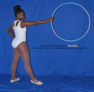 Princess AP Hoop Reaching Profile Stance Strong