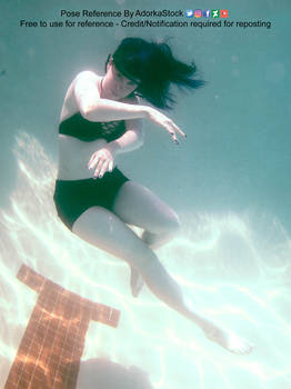 Floating Underwater Figure Swimming Dynamic Pose