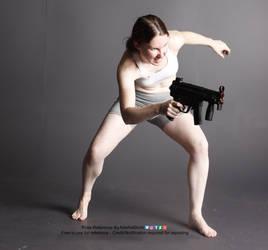 Gun Action Dynamic Pose Reference Comic by AdorkaStock