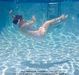 Underwater Falling Floating Graceful Pose Referenc