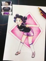 Minoru Mineta Genderbend by JCLIllustrations
